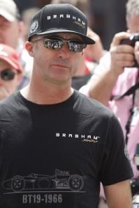 David Brabham, sporting the BT19 T-shirt and Brabham cap