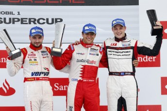 Earl Bamber currently second in the Porsche Mobil 1 Supercup