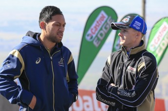 Christian Leali'ifano with Mark Winterbottom at Skyline