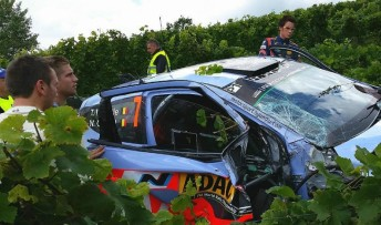 Neuville ended up in the vines.  PIC: Torstein Eriksen