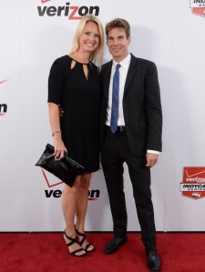 Will Power with wife Liz on the red carpet at the IndyCar awards night in Los Angeles