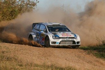 Ogier clean and clear  out front in Spain