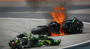 Pol Espargaro escaped serious injury after a fiery high side in Practice 3 at Sepang