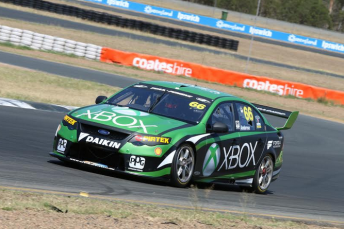Marcos Ambrose on track at Queensland Raceway