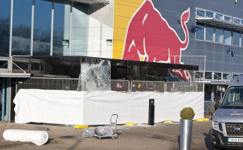 Thieves drove a four-wheel-drive through the main entrance of Red Bull's F1 team and stole more than 60 trophies