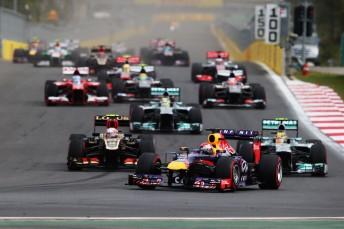 Sebastian Vettel leads the 2013 Korean Grand Prix