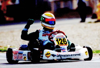 James Courtney during his successful karting career