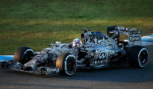 Daniel Ricciardo at the wheel of Red Bull RB11