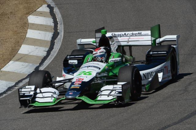 The Honda package, seen here on Carlos Munoz's Andretti entry, has struggled initially against that from Chevrolet