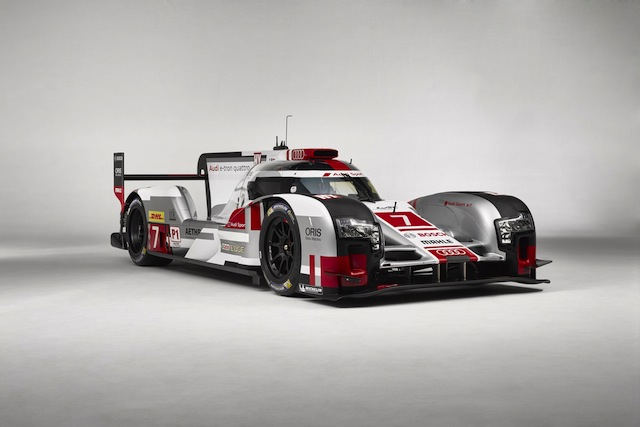 The new aero package has triggered changes to the cooling system and suspenion of the R18 e-tron quattros