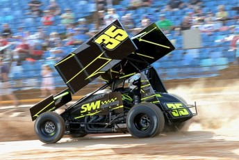 Jamie Veal, a top contender in the Easter Trail Sprintcar series