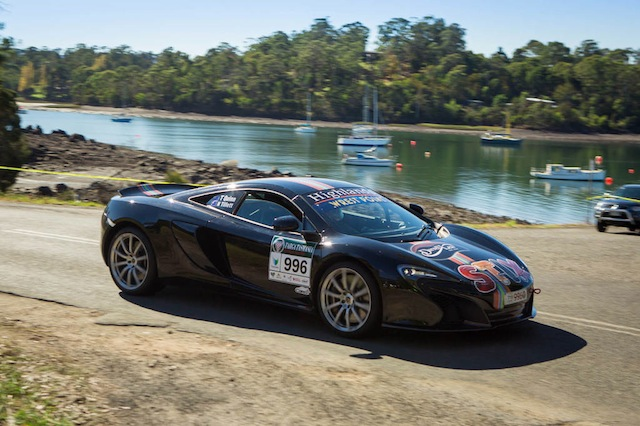 Tony Quinn and Naomi Tillett, the 2009 winners, lead Targa Tasmania after Day 1. pic:  Angryman Photography
