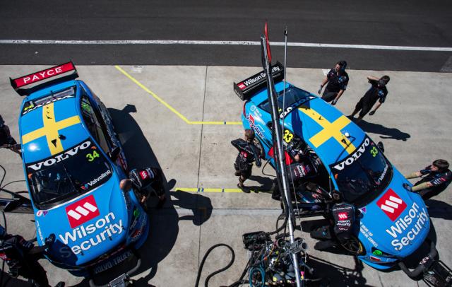 GRM's two Volvo V8 Supercars Championship entries