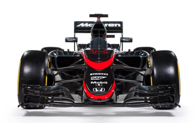 A front end shot of the new McLaren colours