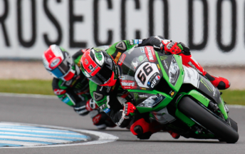 Sykes leads Rea during s hard fought opener at Donington Park