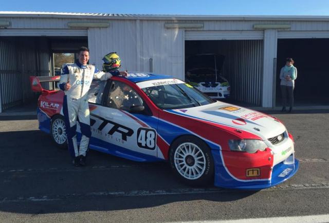 Ben Grice with Matt Palmer's Kumho Series Ford