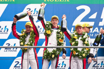 Evans scored a podium in LMP2