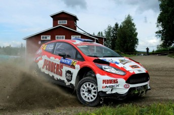 Pedder took fifth in the WRC2 division