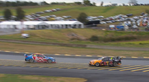 Bright spins after contact with van Gisbergen