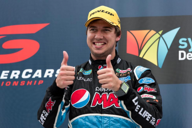 Chaz Mostert closed on team-mate Mark Winterbottom with his fifth win of the season