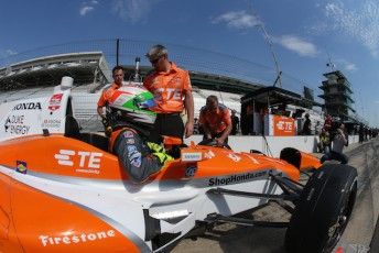 Simon's last IndyCar start came at the 2015 Indy 500