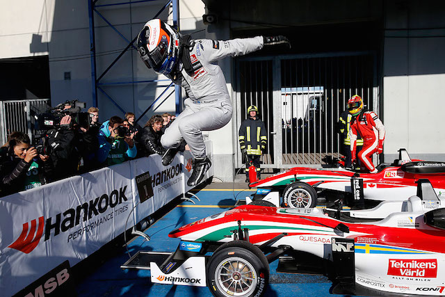 Felix Rosenqvist swept the Nurburgring round to seal the Euro Formula 3 title with three races in hand