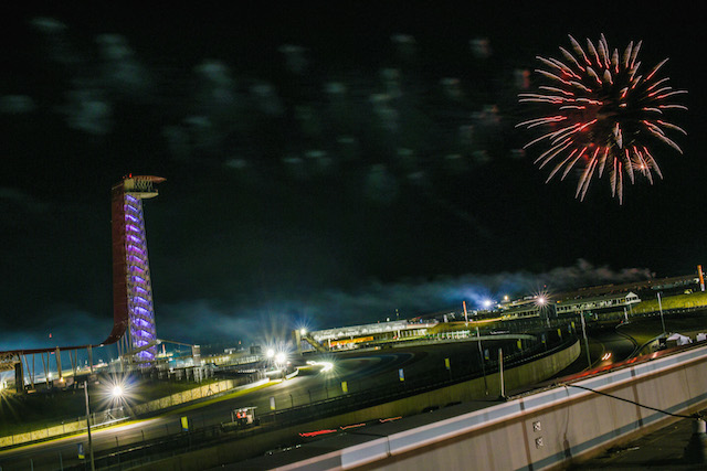 Fire Works during the 6 Hours of the Circuit of the Americas