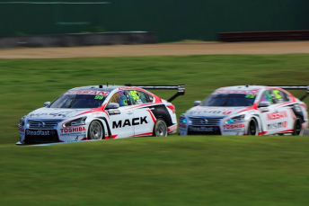 Moffat out-qualified the upgraded cars on Saturday morning