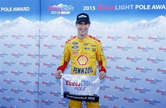 Joey Logano has swept both poles at Martinsville in 2015