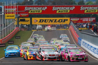 Rhys McNally holding out the field in the V8 Utes