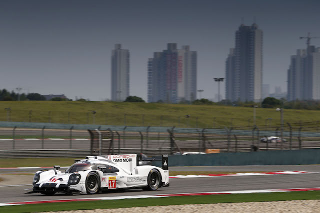 Mark Webber and Brendon Hartley combined to clinch pole at the Shanghai round of the WEC