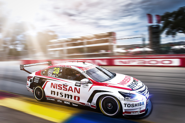 2015 V8 Supercar Championship Round 1. Clipsal 500, Adelaide, Australia. Saturday 28th February 2015. Michael Caruso drives the #23 Nissan Motorsport Nissan World Copyright: Nissan Ref: Digital Image V8SC15R1_CLIPSAL500_DKIMG04910.CR2