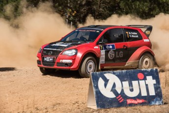 The QUIT Forest Rally which is Round 1 of the 2015 Australian Rally Championship. pic:  Vettas Media