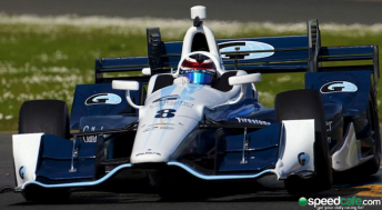Max Chilton drove the Ganassi IndyCar for the first time at Sonoma ahead of the super speedway test at Fontana