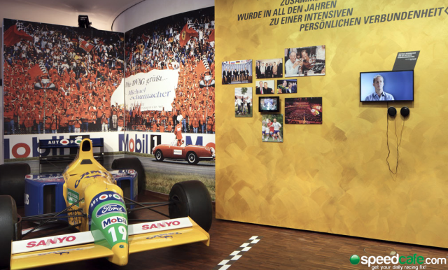 A glimpse inside the Michael Schumacher exhibit