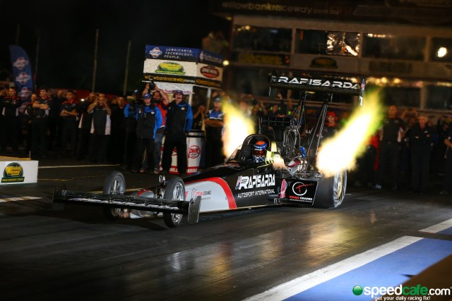 McClenathan in action o his way to victory at the Winternationals