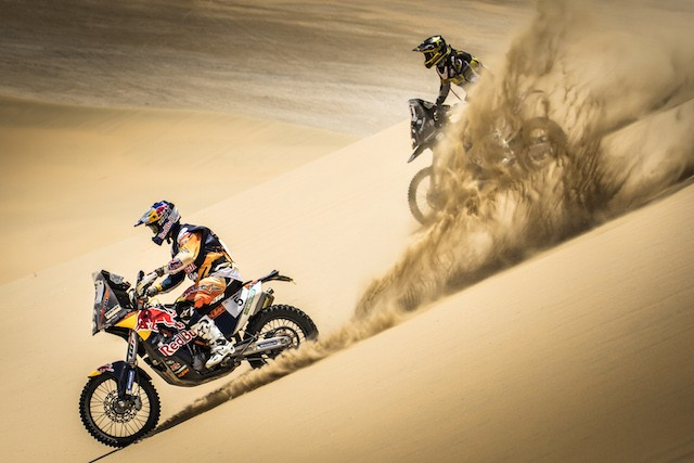 Toby Price during the second stage of the Sealine Cross Country Championship in Qatar