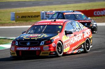 Craig Baird piloted the #4 Erebus Motorsport entry at Queensland Raceway