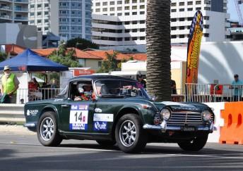 Bob Fisher's Triumph achieved class runner-up in last year's Targa Tasmania. pic: Michele Seymour