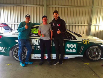 Will Brown (centre) pictured with Cameron McConville and Nick Percat enjoyed a solid run with the Lucas Dumbrell Motorsport squad