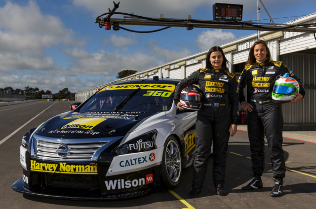 De Silvestro with co-driver Renee Gracie