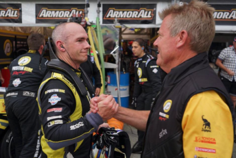 Relief for Lee Holdsworth and Charlie Schwerkolt after finishing seventh in the final GC600 leg
