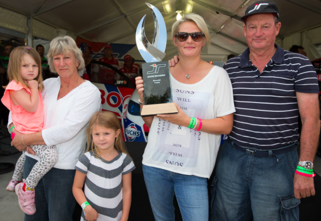 The Richards family at Pukekohe in 2013