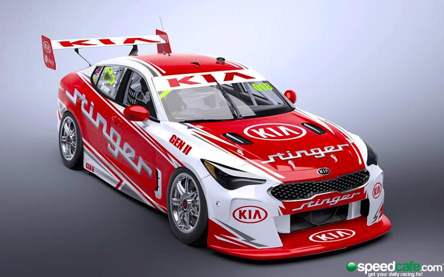 Kia Stinger Supercar render Pic: SSMedia