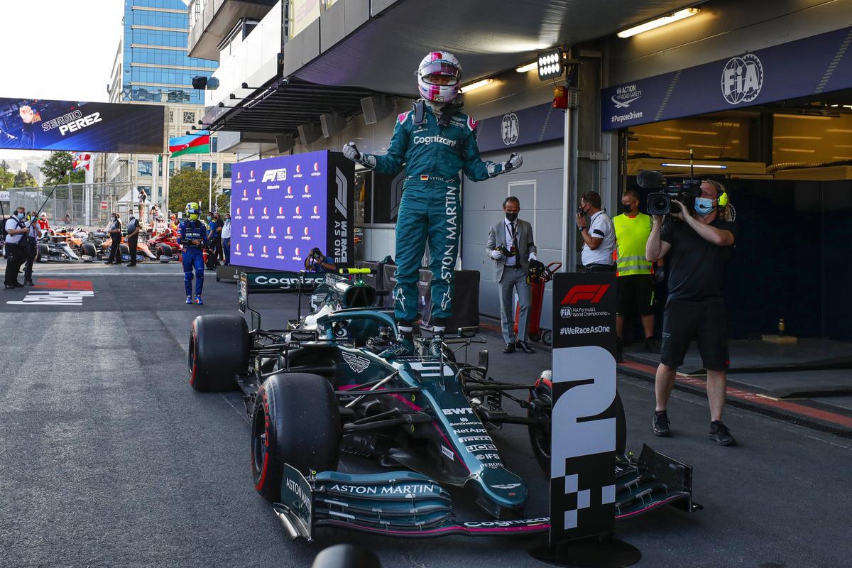 Azerbaijan podium reward after 'tough start' for Aston Martin - Speedcafe